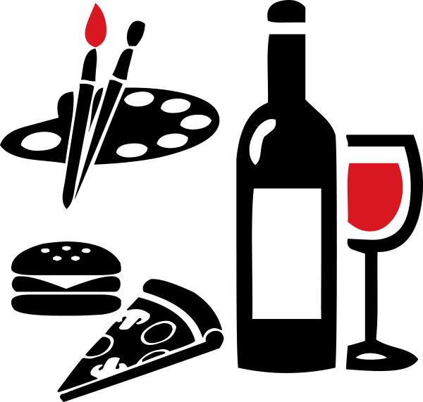 Paint Pinot, Food, Wine, Painting.