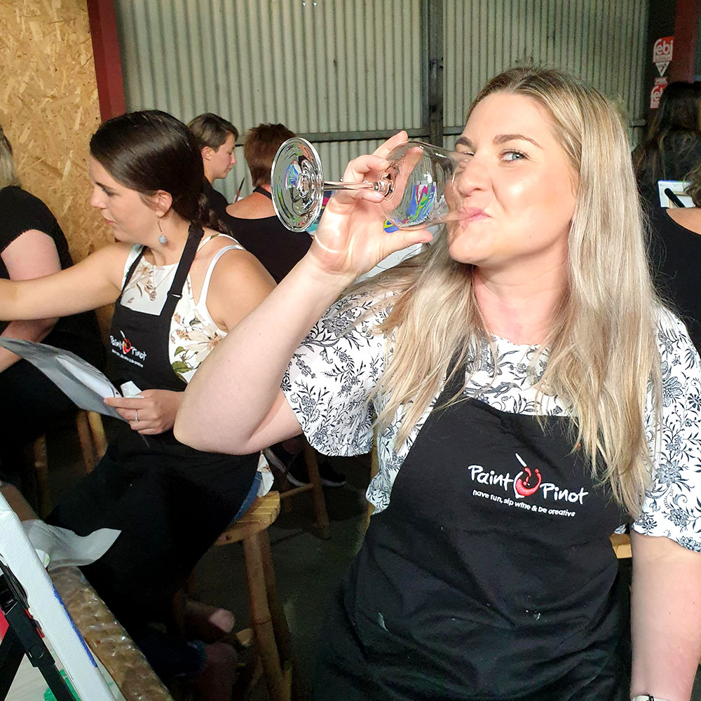 Paint Pinot, Have Fun, Sip Wine and Be Creative. Public Sessions, Shoalhaven.